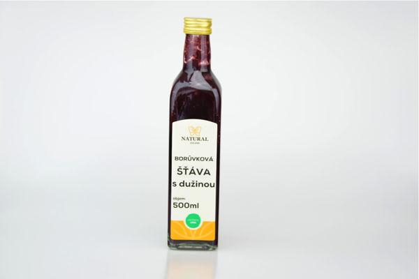 Obrázek Borůvková šťáva s dužinou 500 ml NATURAL