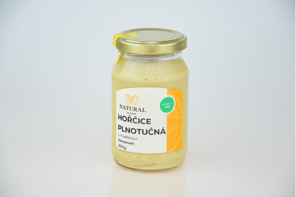 Obrázek Hořčice plnotučná s fruktózou 250 g NATURAL