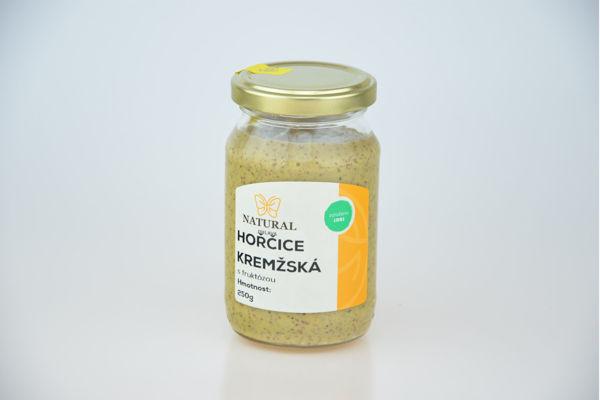 Obrázek Hořčice kremžská s fruktózou 250 g NATURAL