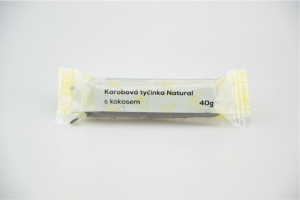 Obrázek Karobová tyčinka s kokosem 50 g NATURAL