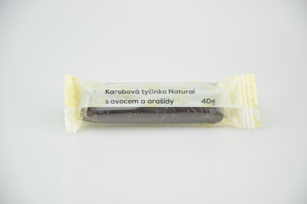 Obrázek Karobová tyčinka s ovocem a ořechy 45 g NATURAL