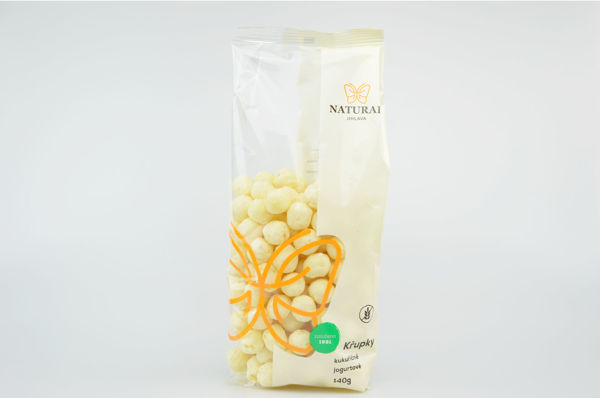 Obrázek Kukuřičné křupky joguroté 140 g NATURAL