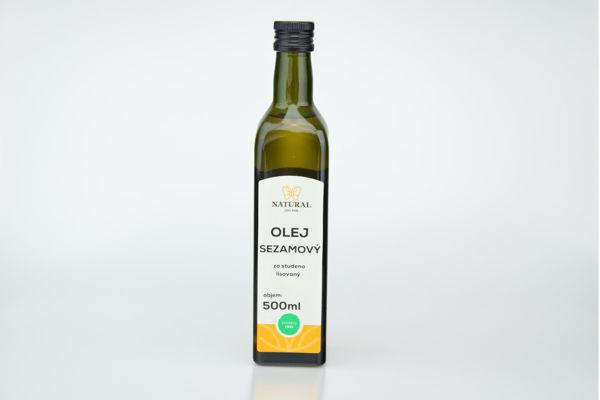 Obrázek Olej sezamový lisovaný za studena 0,5 l NATURAL