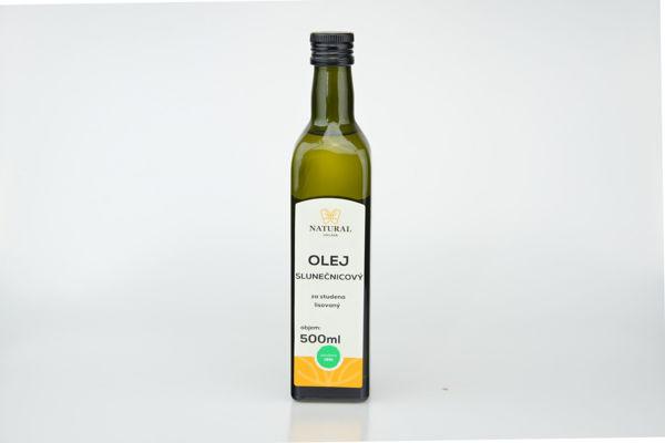 Obrázek Olej slunečnicový lisovaný za studena 0,5 l NATURAL