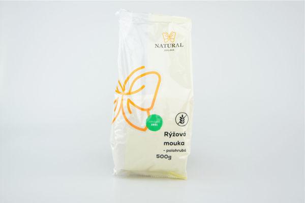 Obrázek Rýžová mouka polohrubá 500 g NATURAL