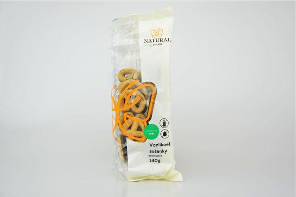 Obrázek Vanilkové sušenky polomáčené s kukuřičným sirupem 140 g NATURAL