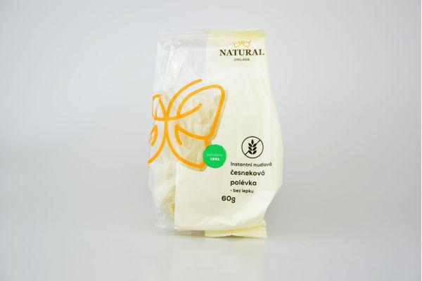 Obrázek Instantní nudlová polévka česneková 60 g NATURAL