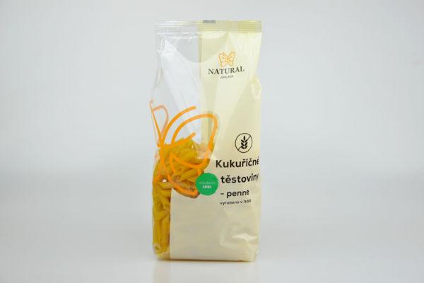 Obrázek Kukuřičné těstoviny - penne 300 g NATURAL