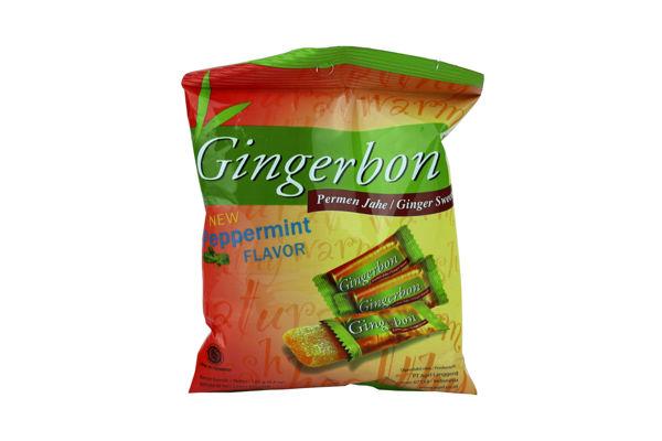 Obrázek Zázvorové bonbony s mentolem 125 g GINGERBON