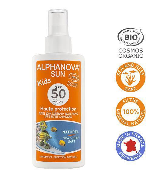 Obrázek Opalovací krém ve spreji pro děti SPF 50, 125 g Alphanova