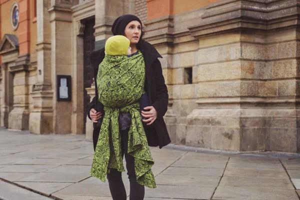 Obrázek Šátek Flora Lime green Lenire
