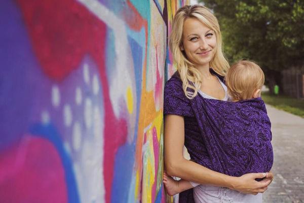 Obrázek Šátek Flora violet Lenire