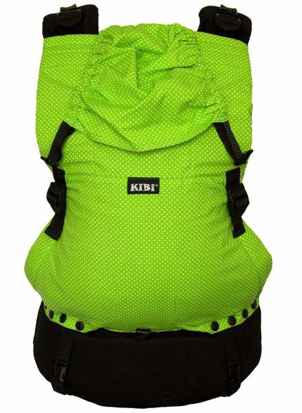 Obrázek Nosítko EVO Zelené s bílým puntíkem KiBi