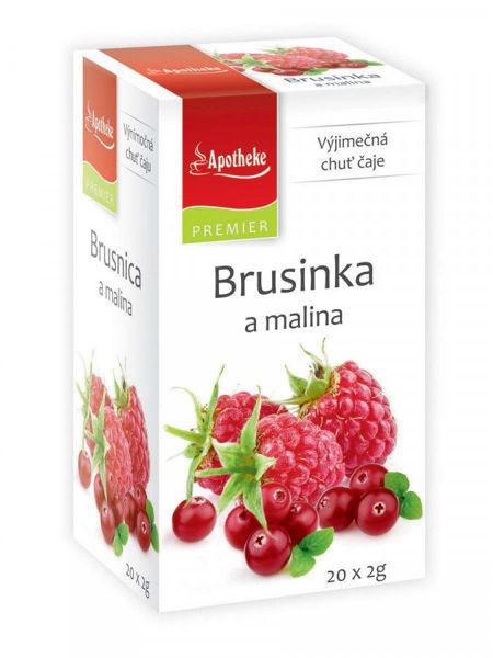 Obrázek Brusinka a malina čaj 20 x 2g APOTHEKE