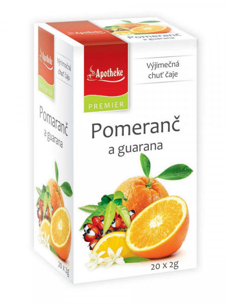 Obrázek Pomeranč a guarana čaj 20 x 2g APOTHEKE