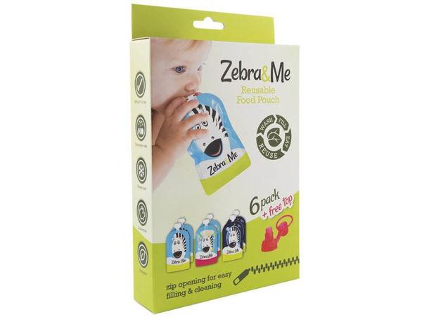 Obrázek Kapsička na dětskou stravu 6 kusů + náústek Zebra&Me