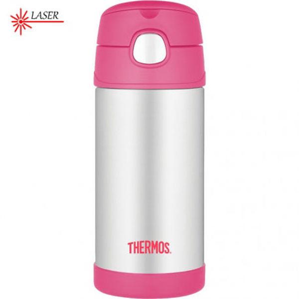 Obrázek Dětská termoska s brčkem růžová Thermos