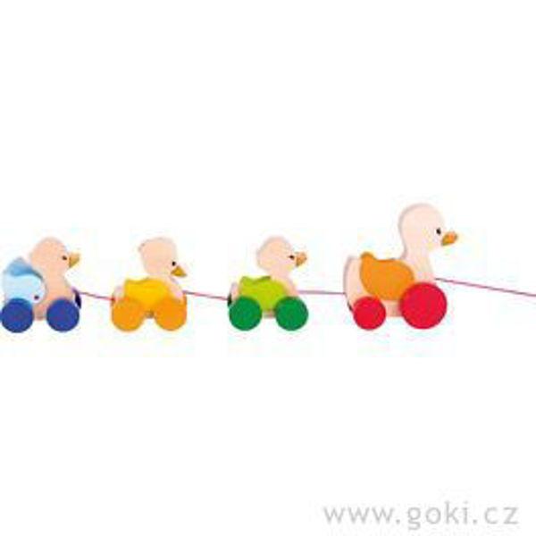 Obrázek Dřevěná tahací hračka - Kačenky Goki