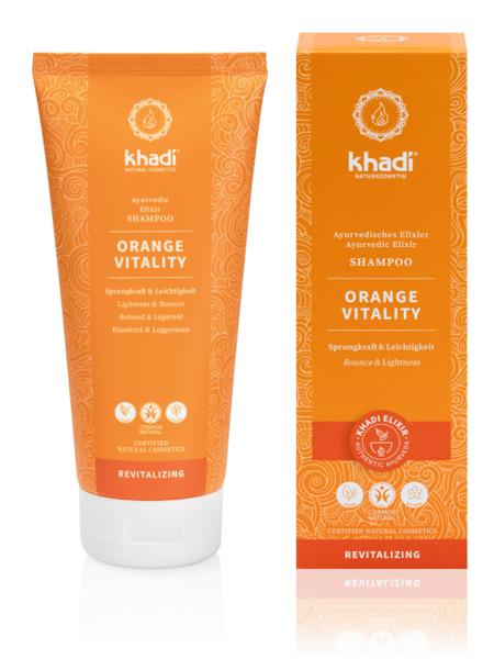 Obrázek Elixír šampon Pomeranč vitalita 200 ml Khadi