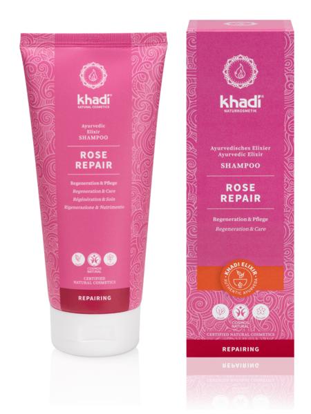 Obrázek Elixír šampon Růže reparace 200 ml Khadi