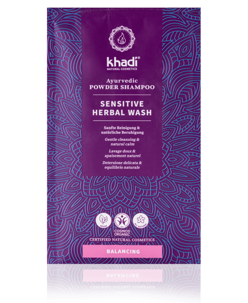 Obrázek Práškový šampon Mytí rostlinami - Sensitive 50 g Khadi