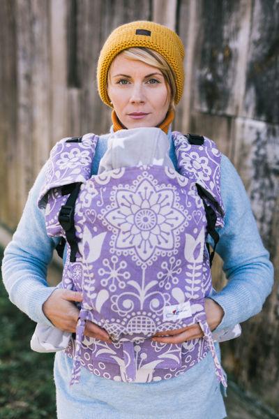 Obrázek Nosítko Be Lenka 4ever - Folk - fialový Klasické popruhy Belenka