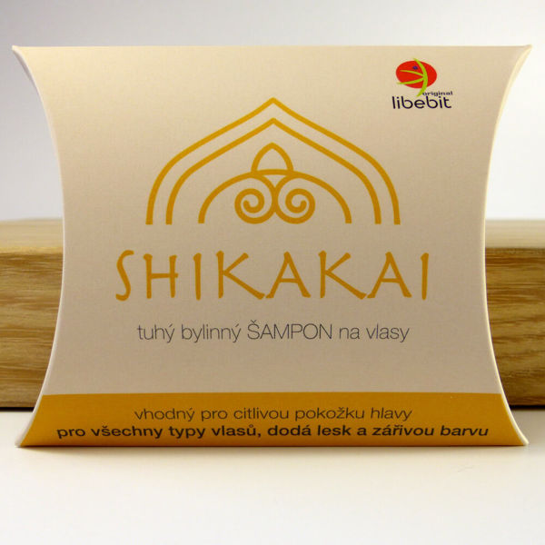 Obrázek Tuhý bylinný šampon Shikakai 70 g Libebit
