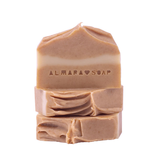 Obrázek TUHÉ MÝDLO CURCUMA & HONEY 90 g ALMARA SOAP