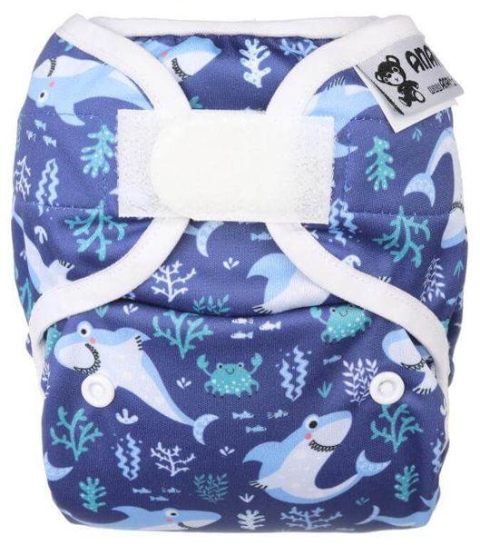 Obrázek Novorozenecké svrchní kalhotky PUL na suchý zip Anavy