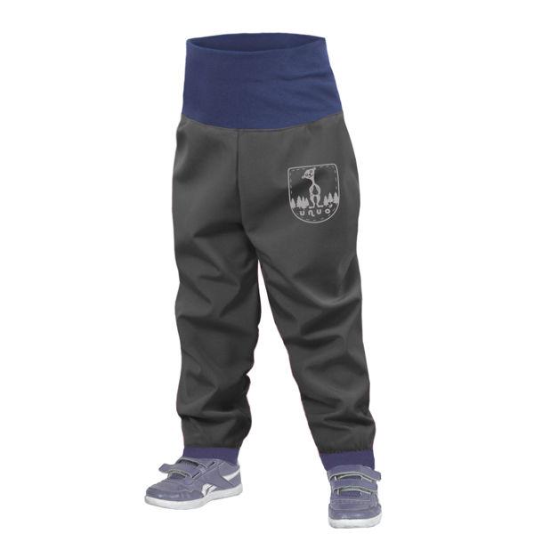 Obrázek Batolecí softshellové kalhoty bez zateplení, Tmavě šedá Unuo