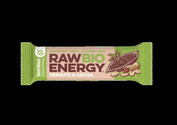 Obrázek Raw bio tyčinka Peanuts and Cocoa 50 g Bombus
