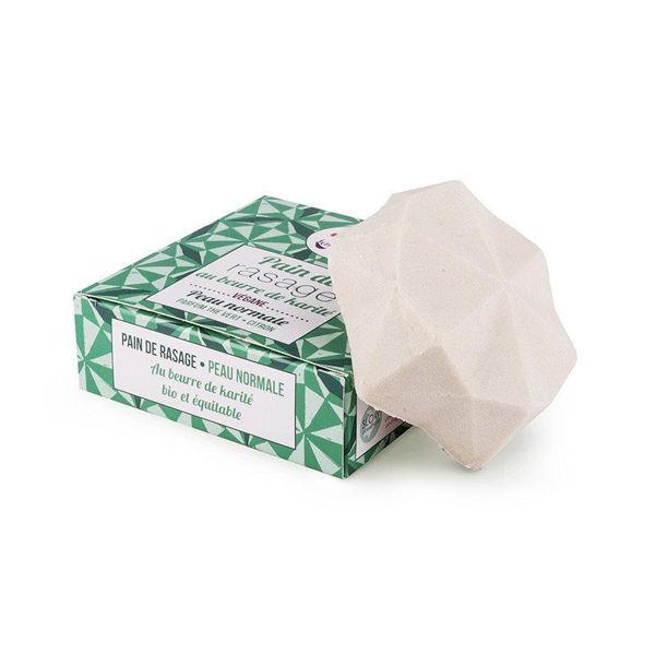 Obrázek Tuhé mýdlo na holení 55 g Zelený čaj a citron Lamazuna