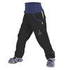 Obrázek Dětské softshellové kalhoty bez zateplení Černá UNUO