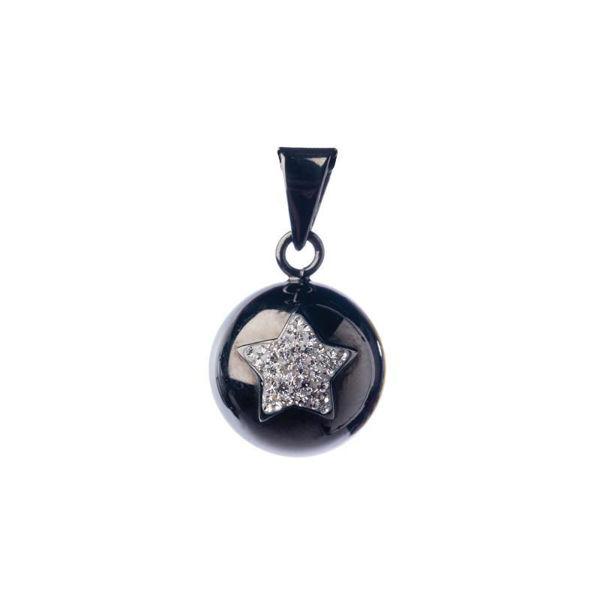 Obrázek Těhotenský šperk Bola black with glitter star BABYLONIA