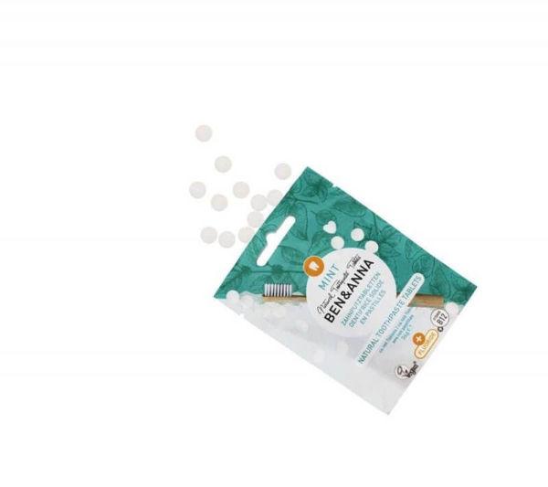 Obrázek Zubní pasta v tabletách s fluoridem MINT 36 g Ben & Anna