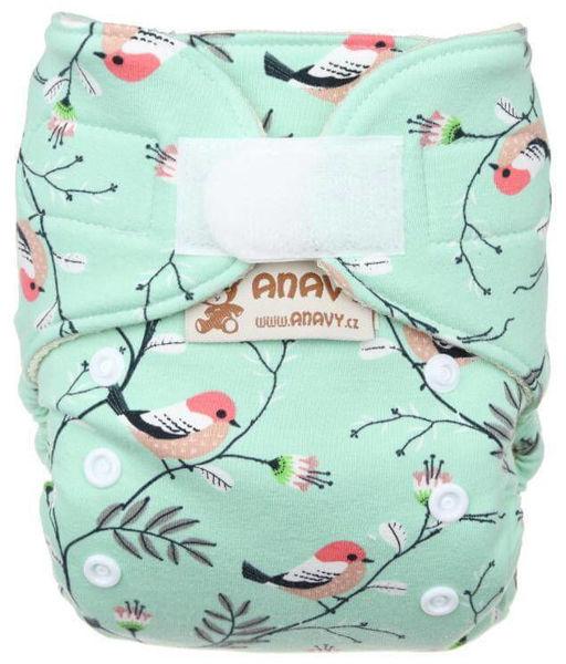 Obrázek Novorozenecké vlněné svrchní kalhotky na suchý zip Anavy