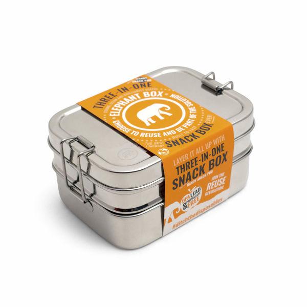 Obrázek Nerezový obědový box 3v1 Elephant Box