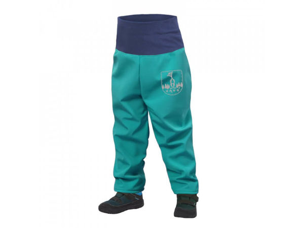 Obrázek Batolecí softshellové kalhoty s fleecem světle smaragdová UNUO