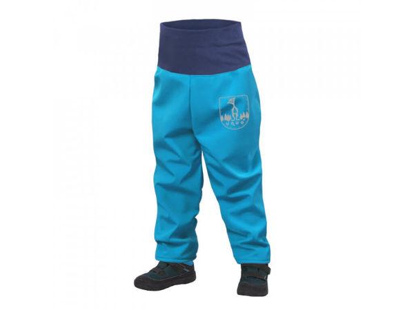 Obrázek Batolecí softshellové kalhoty s fleecem tyrkysová UNUO