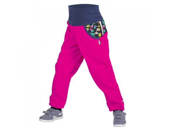 Obrázek Dětské softshellové kalhoty s fleecem fuchsiová souhvězdí medvěda UNUO