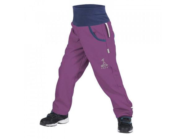 Obrázek Dětské softshellové kalhoty s fleecem ostružinová UNUO