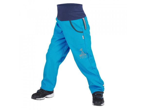 Obrázek Dětské softshellové kalhoty s fleecem tyrkysová UNUO
