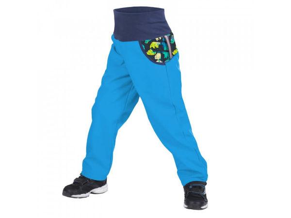 Obrázek Dětské softshellové kalhoty s fleecem tyrkysová souhvězdí medvěda UNUO
