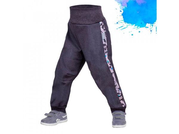 Obrázek Dětské softshellové kalhoty s fleecem Street antracitová Unuo