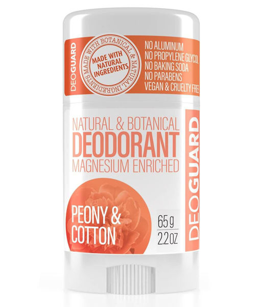 Obrázek Tuhý přírodní deodorant Peony and Cotton 65 g DEOGUARD