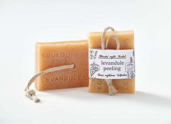 Obrázek Mýdlo levandule peeling 90 g KOUKOL