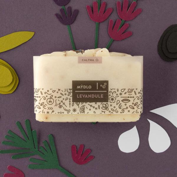 Obrázek Bylinné mýdlo LEVANDULE 100 g Caltha